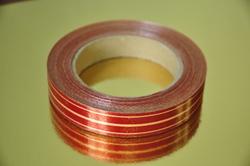 Декоративная лента 2*50 цвет красный