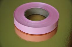 Декоративная лента 2*100 с рисунками, цвет розовый
