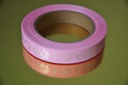 Декоративна стрічка 2 * 50 колір ніжно-рожевий