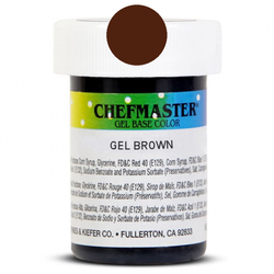 Пастообразный краситель Chefmaster Gel Base Color Buckeye Brown (шоколадный) 28,35 г.