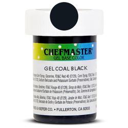Пастообразный краситель Chefmaster Gel Base Color Coal Black (супер черный) 28,35 г.