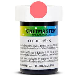 Пастообразный краситель Chefmaster Gel Base Color Deep Pink (темно-розовый) 28,35 г.