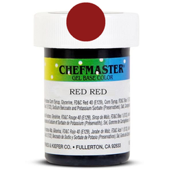 Пастоподібний барвник Chefmaster Gel Base Color Red Red (червоний-червоний) 28,35 м