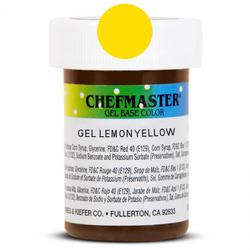 Пастообразный краситель Chefmaster Gel Base Color Lemon Yellow (лимонный) 28,35 г.