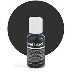 Гелевий барвник Chefmaster Liqua-Gel Coal Black (супер чорний) 21 м
