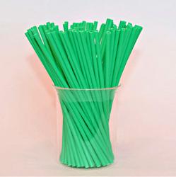 Палички для кейк-попсів зелені, 15 см, 50 шт