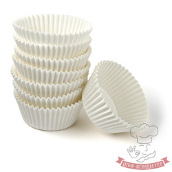 Форма для кексов белая 50х30 100шт. Италия