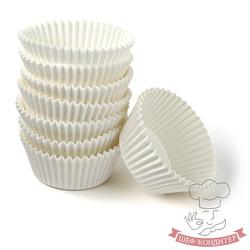 Форма для кексів біла 50х30 50шт. Італія