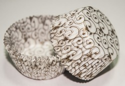 Форма для кексов Версаль 50х30 50шт.(золото)