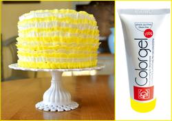 Барвник гелевий Modecor Color Gel Лимонний- 100 г
