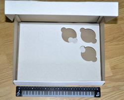 Коробка картонная для кексов на 12 шт, размер 33х25,5х80 см