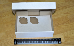 Коробка картонная для кексов на 6 шт, размер 25х17х80 см