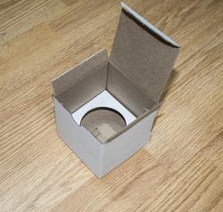 Коробка картонная для кексов для 1 шт, размер 8,5х8,5х8,5 см