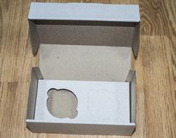 Коробка картонная для кексов для 2 шт, размер 19,5х10х8 см