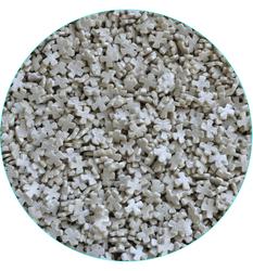 Крестики перламутровые серебро, 50 г
