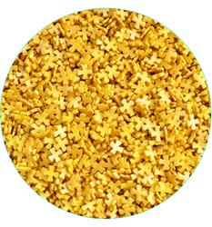 Крестики перламутровые золотые, 100 г