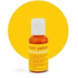 Гелевий барвник Chefmaster Liqua-Gel Lemon Yellow (лимонний) 21 м