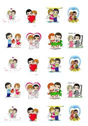 Картинки для мафінів, капкейків Love is №1