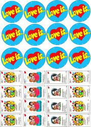 Картинки для мафінів, капкейків Love is №2