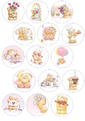 Картинки для маффинов,капкейков Teddy №3