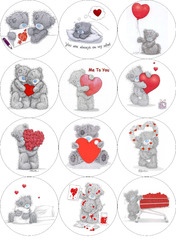 Картинки для маффинов,капкейков Teddy №2