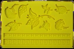 Молд текстура Цветочки и Листики