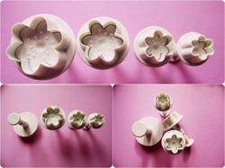 Набор плунжеров цветок из 4 ед.