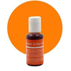 Гелевый краситель Chefmaster Liqua-Gel Neon Brite Orange (электрик оранжевый) 21 г.