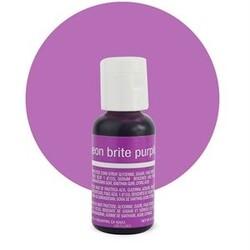 Гелевий барвник Chefmaster Liqua-Gel Neon Brite Purple (електрик пурпурний) 21 м