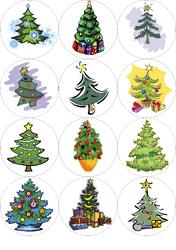 Картинки для маффинов,капкейков Новый год №13