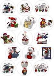 Картинки для маффинов,капкейков Новый год №6