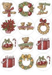 Картинки для мафінів, капкейків Новий рік №15
