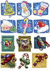 Картинки для маффинов,капкейков Новый год №17