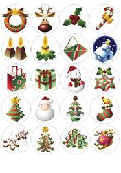 Картинки для маффинов,капкейков Новый год №7