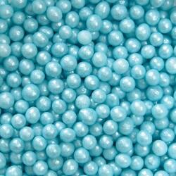Сахарные шарики жемчуг голубой 3мм 100 г.