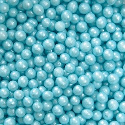 Сахарные шарики жемчуг голубой 3мм 20 г.