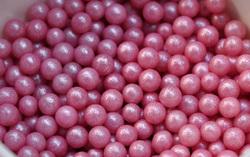 Сахарные шарики жемчуг розовый 3мм 20 г.