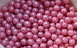 Сахарные шарики жемчуг розовый 3мм 100 г.