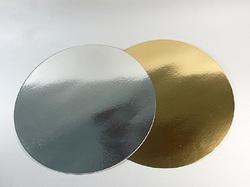 Подложка круглая золото/серебро D 22 см