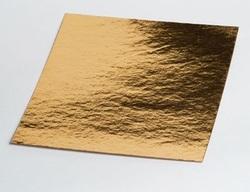 Подложка квадратная золото/серебро 25х25 см