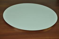 Поднос для торта круглый D 35 см белый/золото