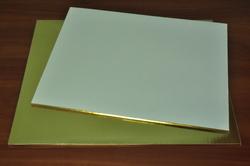 Поднос прямоугольный 35х45 см золото/золото