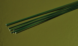 Проволока зеленая без обмотки D 0.9 мм