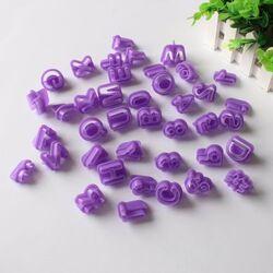 Вырубка  алфавит + цифры фиолетовый