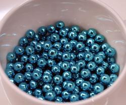 Сахарные шарики голубые 5мм 20 г.