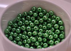 Сахарные шарики зеленые 5мм 50 г.
