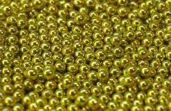 Цукрові кульки золоті 2мм 50 г.