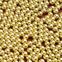 Цукрові кульки золоті 5мм 100г.