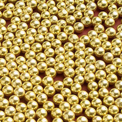 Сахарные шарики золотые 5мм 50 г.