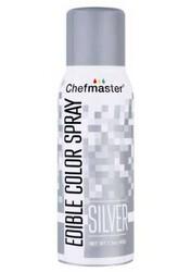 Спрей барвник перламутровий Срібний 42 г Chefmaster